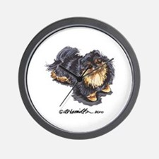 Black Tan Pomeranian Wall Clock