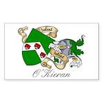O'Kieran Famiy Crest Rectangle Sticker