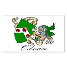 O'Kieran Famiy Crest Rectangle Decal
