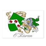 O'Kieran Famiy Crest Postcards (Package of 8)