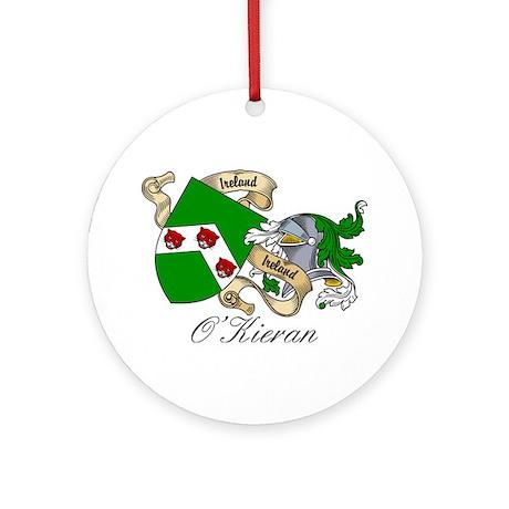 O'Kieran Famiy Crest Ornament (Round)