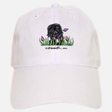 Black Pomeranian Tulips Baseball Baseball Cap