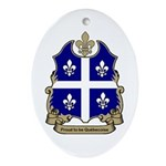 Proud Quebecoise Oval Ornament