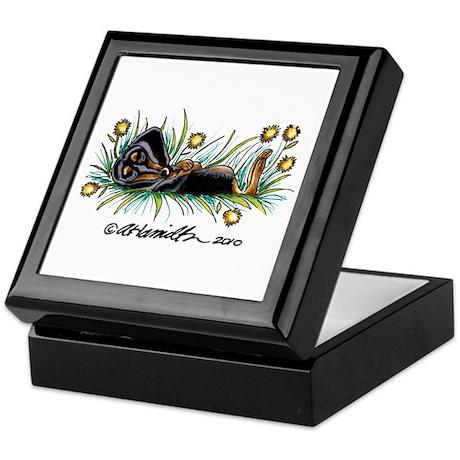 Dandelion Dachshund Lover Keepsake Box