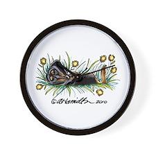 Dandelion Dachshund Lover Wall Clock
