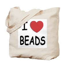 I heart beads Tote Bag