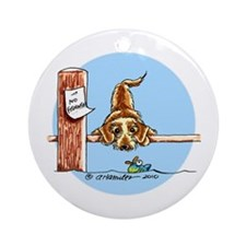 Wirehaired Dachshund Lover Ornament (Round)