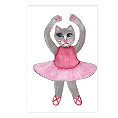 Cat Ballerina Postcards (Package of 8)