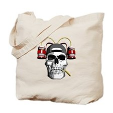 Drinking Skull Tote Bag