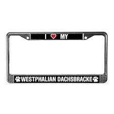 Love My Westphalian Dachsbracke License PlateFrame