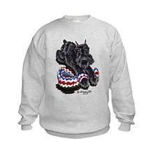 Black Schnauzer Afghan Sweatshirt