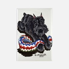 Black Schnauzer Afghan Rectangle Magnet (10 pack)