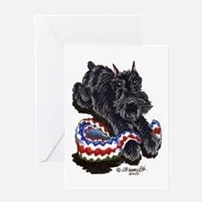 Black Schnauzer Afghan Greeting Card