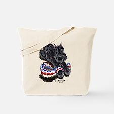 Black Schnauzer Afghan Tote Bag
