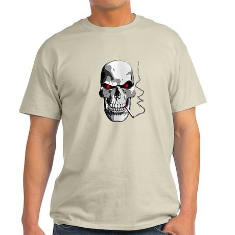 Skull Smoking Light T-Shirt