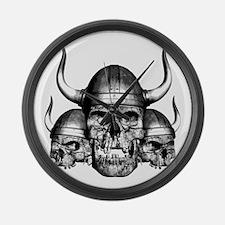 Viking Skulls Large Wall Clock
