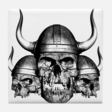Viking Skulls Tile Coaster