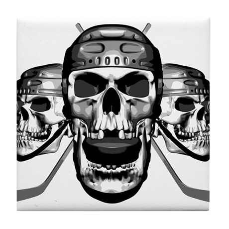 Hockey Skulls Tile Coaster