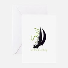Unique Sailing racing Greeting Cards (Pk of 10)