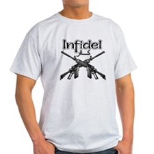 English and Arabic Infidel T-Shirt