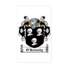 O'Kennedy Family Crest Rectangle Stickers