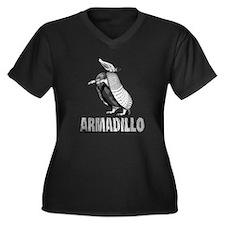 Armadillo Women's Plus Size V-Neck Dark T-Shirt