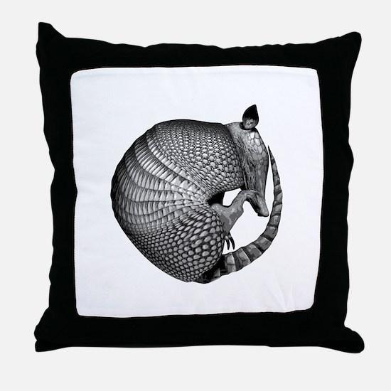 Sleeping Armadillo Throw Pillow