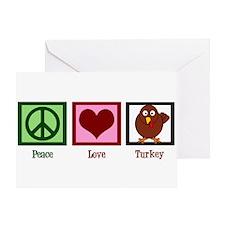Peace Love Turkey Greeting Card
