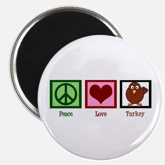 Peace Love Turkey Magnet