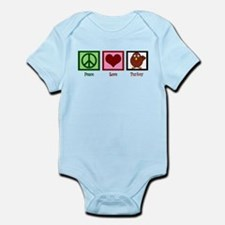 Peace Love Turkey Infant Bodysuit