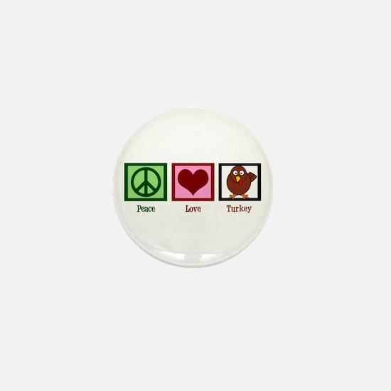 Peace Love Turkey Mini Button (10 pack)