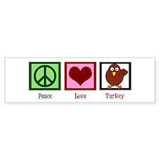 Peace Love Turkey Bumper Sticker