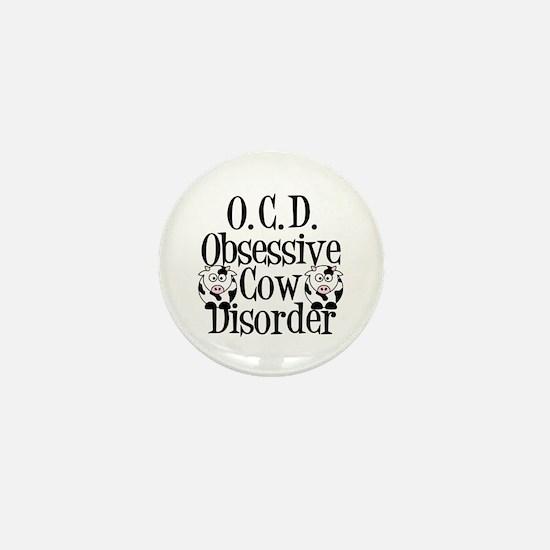Obsessive Cow Disorder Mini Button