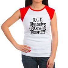 Obsessive Cow Disorder Women's Cap Sleeve T-Shirt