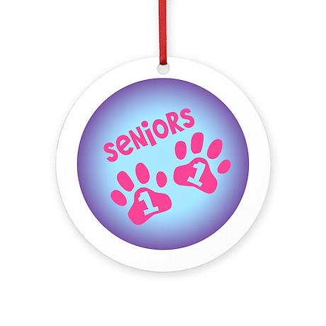 Seniors 11 Paw Prints Ornament (Round)