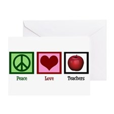 Peace Love Teachers Greeting Card
