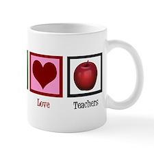 Peace Love Teachers Mug