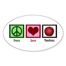 Peace Love Teachers Decal