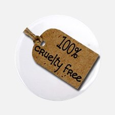 "1oo% Cruelty Free 2 3.5"" Button"