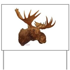 moose head Yard Sign