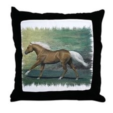 Palomino Stallion Throw Pillow