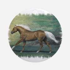 Palomino Stallion Ornament (Round)