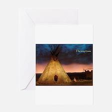 teepee Greeting Cards