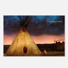 Unique Native american indians Postcards (Package of 8)