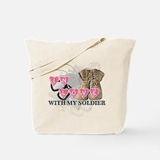 Army mom infantry Tote Bag