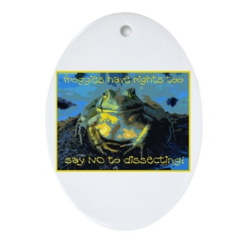 Froggies Have Rights Too Ornament (Oval)