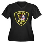 Elgin Illinois Police Women's Plus Size V-Neck Dar