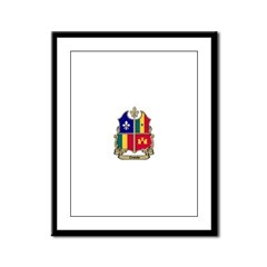 CREOLE Shield Framed Panel Print