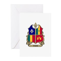 CREOLE Shield Greeting Cards (Pk of 10)