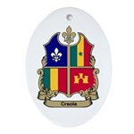 CREOLE Shield Oval Ornament